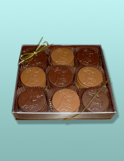 Chocolate Ballroom Favor Gift Box