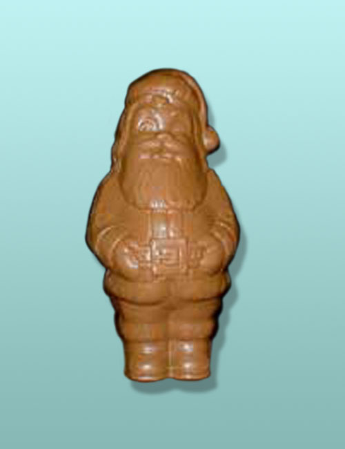 3D Semi-Solid Chocolate Jolly Santa