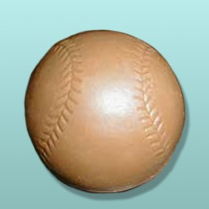 3D Solid Chocolate Baseball
