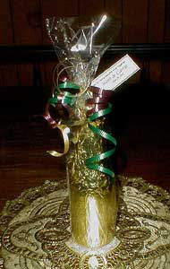 3D Chocolate Champagne Bottle Split