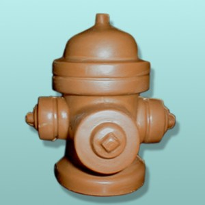 3D Chocolate Fire Hydrant