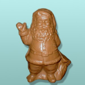 3D Semi-Solid Chocolate Santa