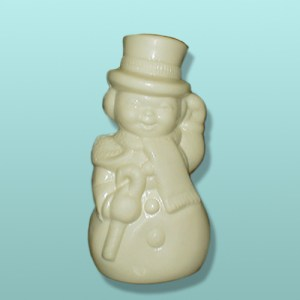 3D Solid Chocolate Snowman Centerpiece