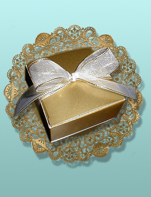 4 pc. Chocolate Truffles Gold Box