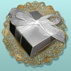 4 pc. Chocolate Truffles Silver Box