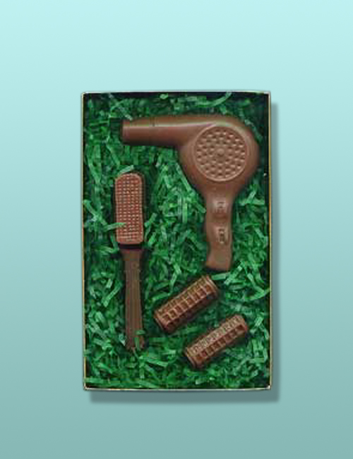 4 pc. Chocolate Hair Dresser Gift Set