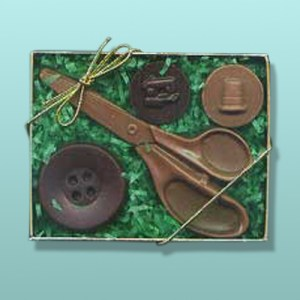 Chocolate Sewing Kit Small Gift Set