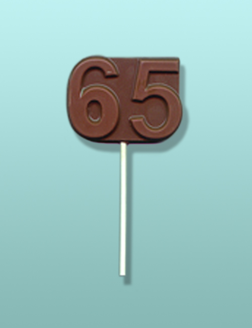 Chocolate Number 65 Party Favor