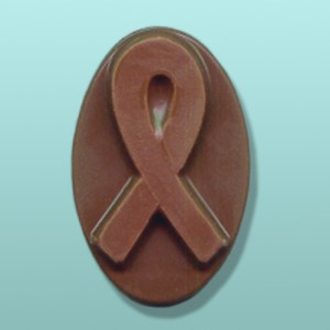 Chocolate Awareness Ribbon Oval Favor
