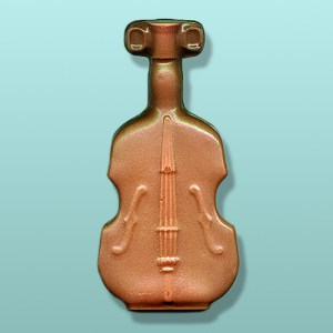 3D Chocolate Violin Keepsake