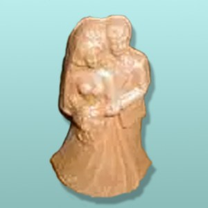 Chocolate Bridal Couple Cake Top III