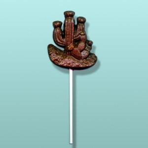 Chocolate Desert Cactus Lolly