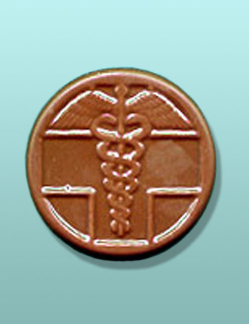 Chocolate Caduceus Medallion Favor