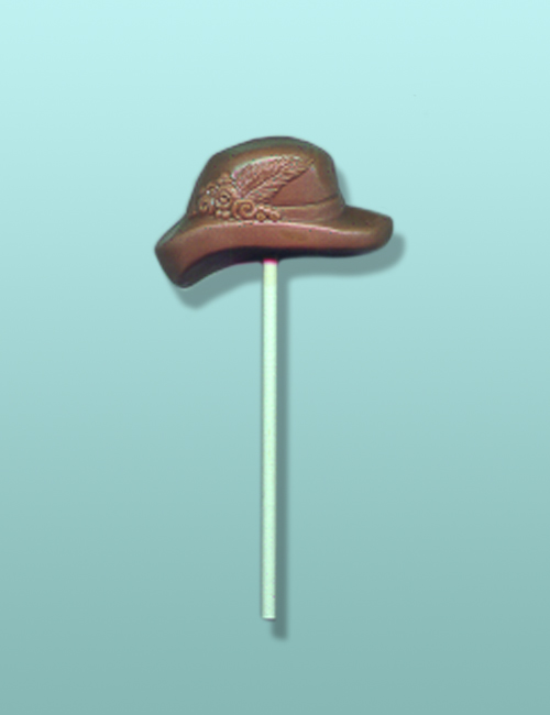 Chocolate Ladies Hat IV Lolly