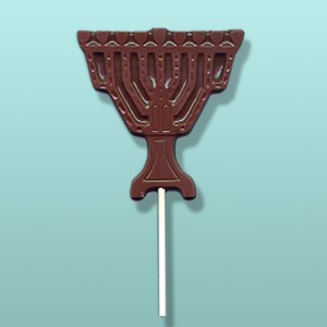 Chocolate Menorah Candle Lolly