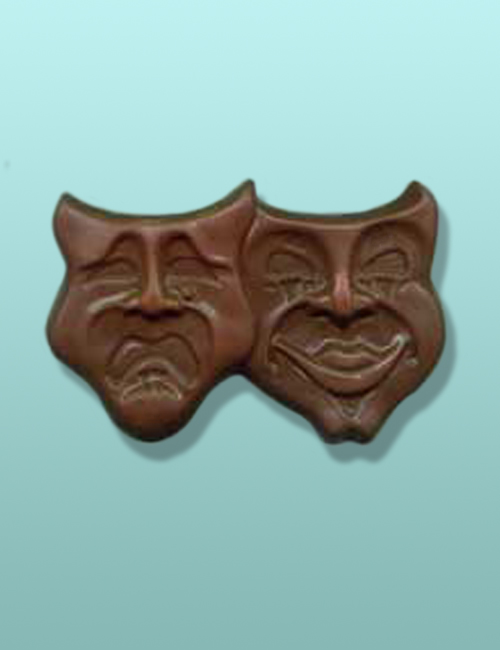 Chocolate Comedy Tragedy Large Masks