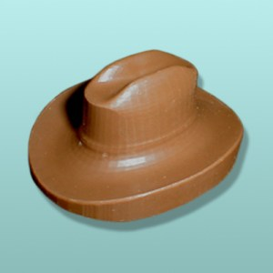 3D Chocolate Cowboy Hat Favor