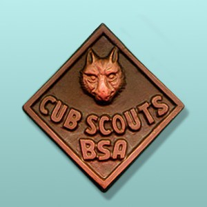 Chocolate Cub Scout Large Emblem