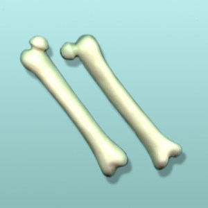 2 pc. Chocolate Femur Favor