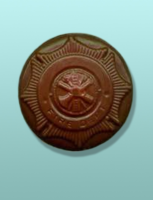 Chocolate Fire Department Emblem Favor
