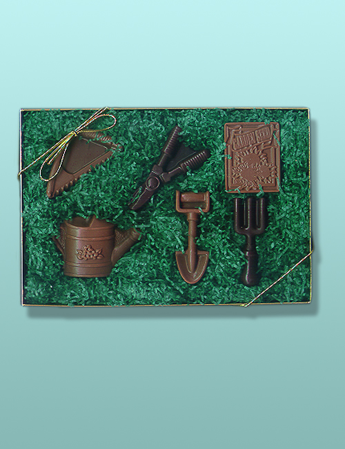 Chocolate Garden Tools Gift Set
