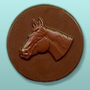 Chocolate Horse Head Round Party Favor