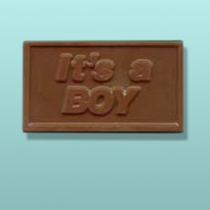 "Chocolate ""It's A Boy"" Mini Card Favor"