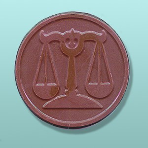 Chocolate Scales of Justice Medallion Favor