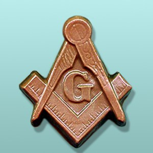 Chocolate Masonic Blue Lodge Emblem
