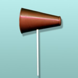 Chocolate Megaphone Party Favor