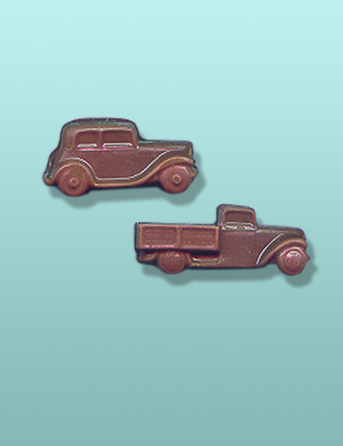 2 pc. Chocolate Truck and Car Mini Favor