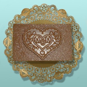 Chocolate Mom Heart Plaque