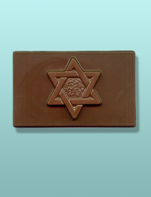 Chocolate Star of David Mini Card Favor