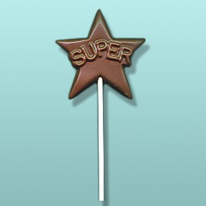 Chocolate Super Star Party Favor