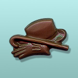Chocolate Top Hat, Cane and Gloves Favor