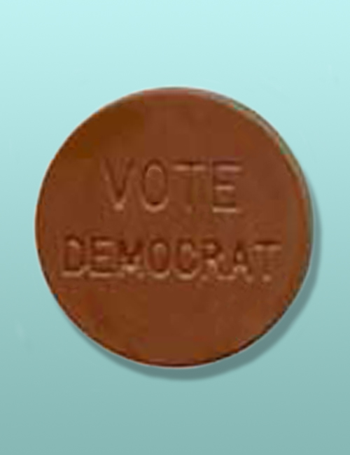 Vote Democrat Chocolate Button