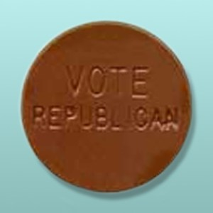 Vote Republican Chocolate Button
