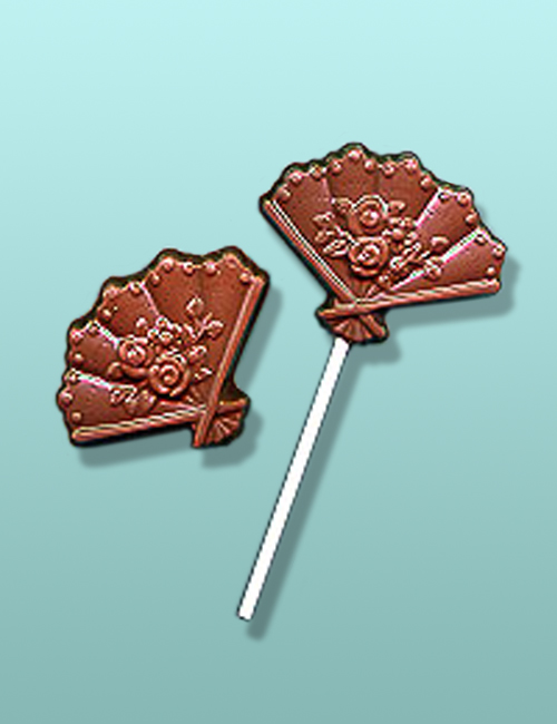 Chocolate Wedding Fans Party Favor