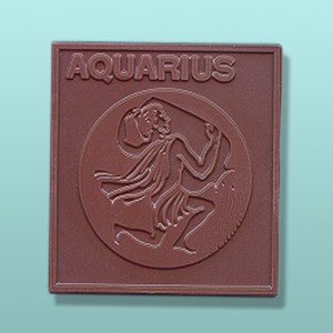 Chocolate Aquarius Zodiac Plaque