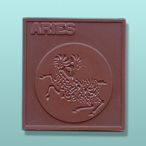 Chocolate Aries Zodiac Plaque