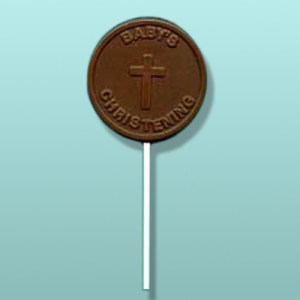 Chocolate Baby's Christening Lolly