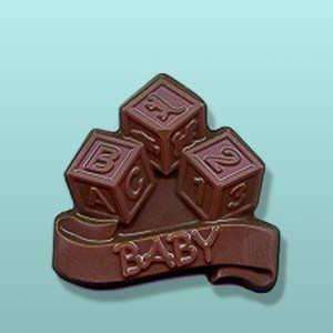 Chocolate Baby Blocks Party Favor