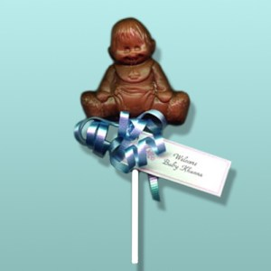 Chocolate Baby Boy Party Favor