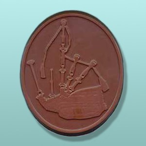 Chocolate Bagpipe Large Oval Plaque