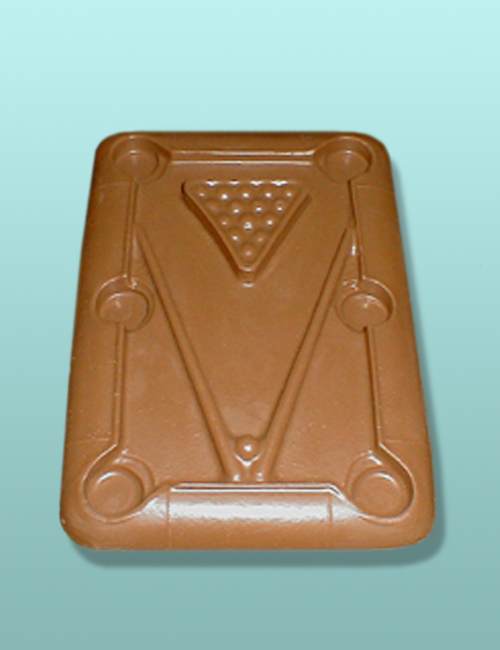Chocolate Pool Table Flat Plaque