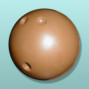 3D Solid Chocolate Bowling Ball