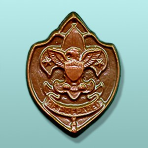 Chocolate Boy Scout Plaque