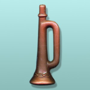 3D Chocolate Bugle Musical Instrument