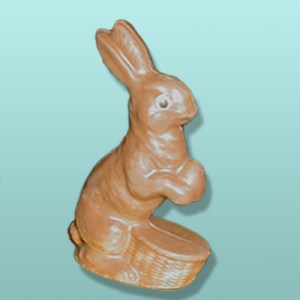 3D Chocolate Bunny with Basket - Medium