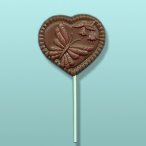 Chocolate Butterfly Heart I Party Favor